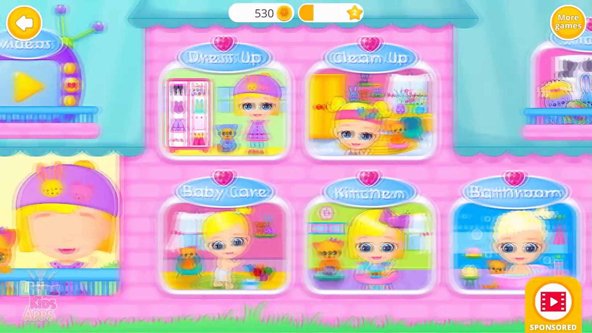 Lily & Kitty Baby Doll House - Little Baby and Pet Care Game for Kids