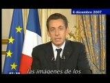 Le message télé de Nicolas Sarkozy
