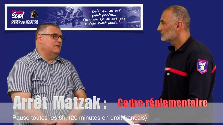 Reportage vidéo Sapeurs-Pompiers : Temps de travail des SPV (Matzak)
