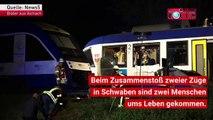 Zwei Tote und 14 Verletzte! Erste Aufnahmen zeigen das schwere Zugunglück bei Aichach in Bayern.