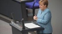 Angela Merkel destaca buenas cifras sobre economía alemana y alerta sobre riesgos exteriores