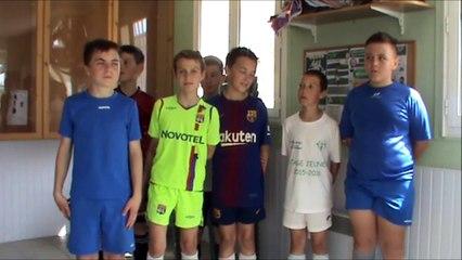 PRESENTATION DE L' ES MONTILLIERS par les Jeunes de l'école de Foot