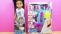 Muñeca Nancy Cumpleaños ,  Set de Peluquería para Nancy en español ,  Nancy va a la peluquería