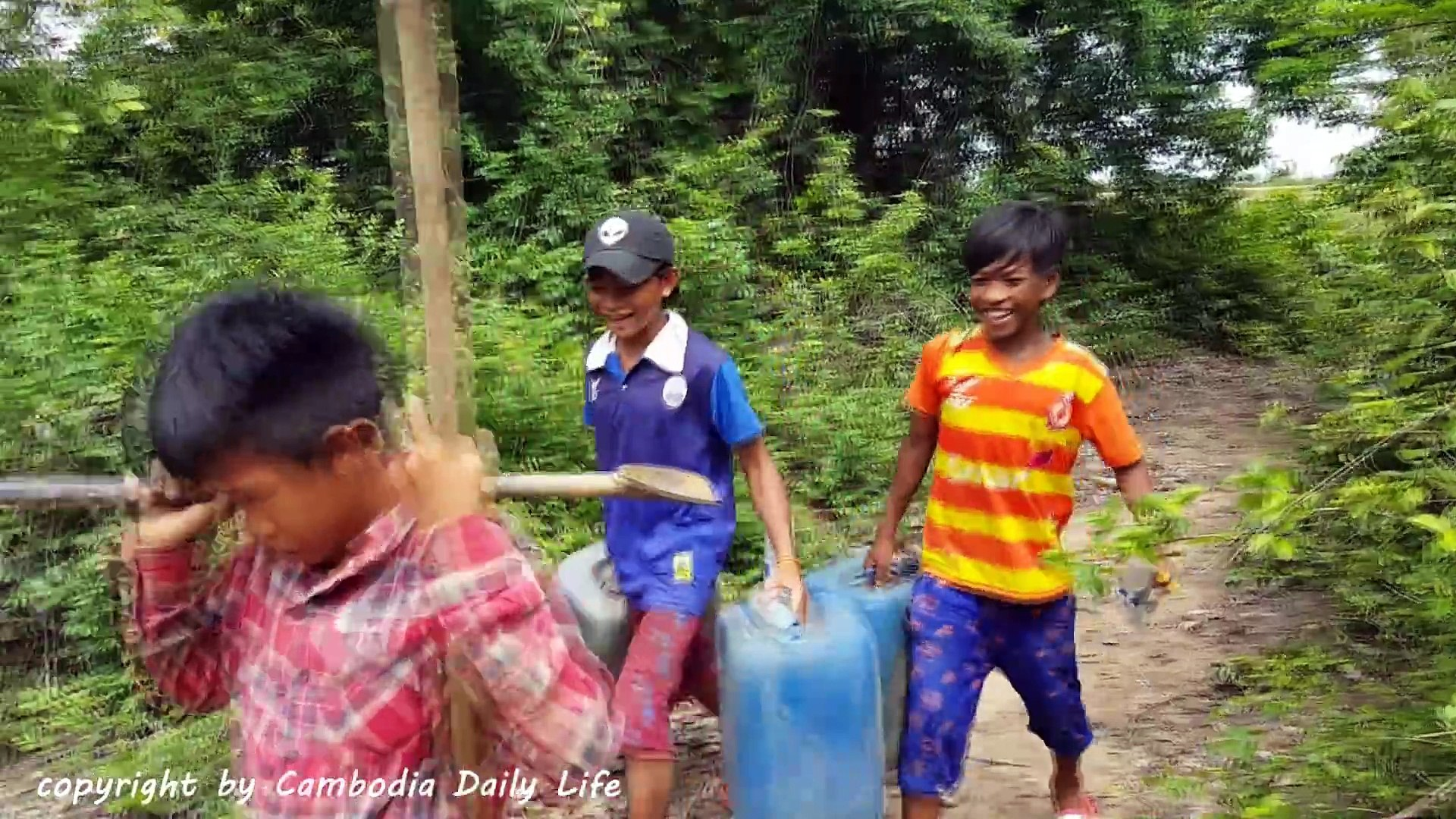Amazing Smart Children Catch Tree Snake Using Oil Tank Trap - How To Catch Tree Snake With Trap