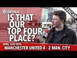 Is That Our Top Four Place? | Manchester United 4 Manchester City 2 | FANCAM