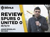 Frustrating, Frustrating, Frustrating   Spurs 0 Manchester United 0    REVIEW