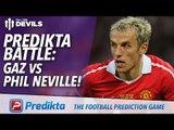 Manchester United Predikta Battle! | Gaz vs Phil Neville | Manchester United vs Aston Villa