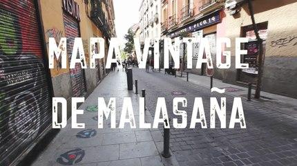 Mapa vintage de Malasaña
