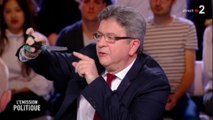 [Zap Actu] Jean-Luc Mélenchon joue avec des ciseaux pour illustrer la politique Macron (18/05/2018)