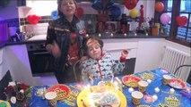 JOYEUX ANNIVERSAIRE FANTIN 8 ans - Gâteau & cadeaux d'anniversaire en famille - Démo Jouets