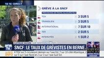 Grève: la direction de la SNCF prévoit demain 3 Transilien sur 5, 2 TER sur 5, 3 TGV sur 5 et 1 Intercités sur 2