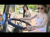 Extreme Ladies Trucker & Hardest Mountain Road To Drive On