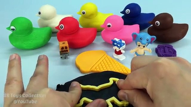 Playdough Ducks Surprise Toys Hello Kitty Paw Patrol Twozies Cookie Cutters Minion Butterfly Molds