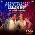 Three hours to go for #Heeriye!! Super excited!   Salman Khan Remo D'souza Ramesh Taurani Neha Bhasin Meet Bros Salman Khan Films TIPS  #Race3ThisEid #Race3