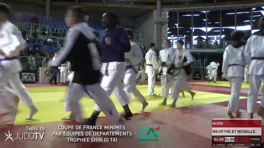 TAPIS 15 - COUPE DE FRANCE MINIMES PAR EQUIPES DE DEPARTEMENTS TROPHEE SHIN GI TAI CREDIT AGRICOLE 2018 - LIVE 7 (184)
