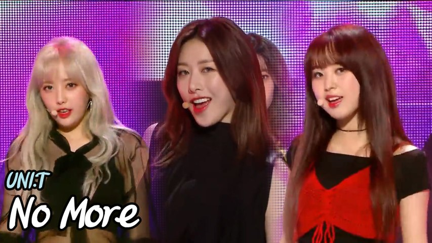 [Hot  Debut] UNI.T - No More , 유니티 - 넘어 Show Music core 20180519