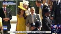 Mariage princier: Georges et Amal Clooney arrivent à la chapelle St-Georges à Windsor