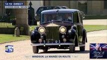 Meghan Markle en route pour la chapelle Saint-Georges de Windsor