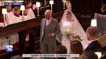 Mariage princier: Meghan Markle fait son entrée dans la chapelle Saint-George à Windsor #RoyalWedding