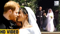 Prince Harry & Meghan Markle's First Kiss After Royal Wedding