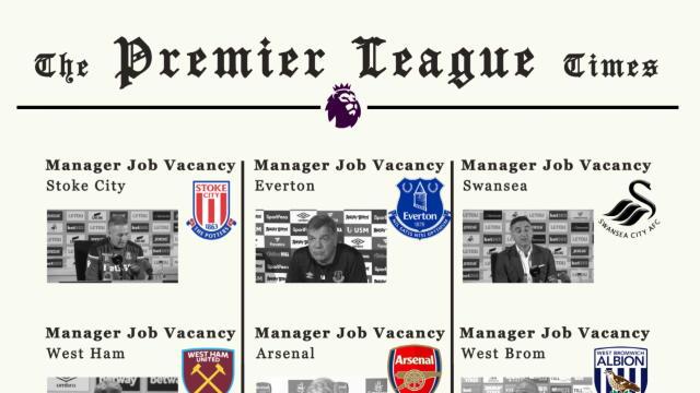 The Premier League job vacancy list