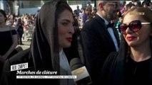 """Behnaz Jafari et Marziyeh Rezaei les actrices de """"3 visages"""" sur le tapis rouge - Cannes 2018"""