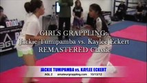 GIRLS GRAPPLING Jackie Tumipamba vs Kaylee Eckert REMASTERED Classic AGL II Amateur Grappling League-101312 Girls BJJ