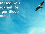 Red Convertible Linen Futon Sofa Bed Couch Split Backrest Recliner Lounger Sleeper Home