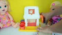 My Baby Alive Doll Sara eating French Fries from french Fry Maker machine Mcdonalds!!! BananaKids