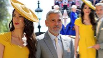 Amal Clooney and husband George lead the best celebrity fashion at the Royal Wedding... as she turns heads in mustard yellow dress
