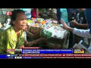 Sudirman Said Blusukan ke Pasar Tradisional Brebes