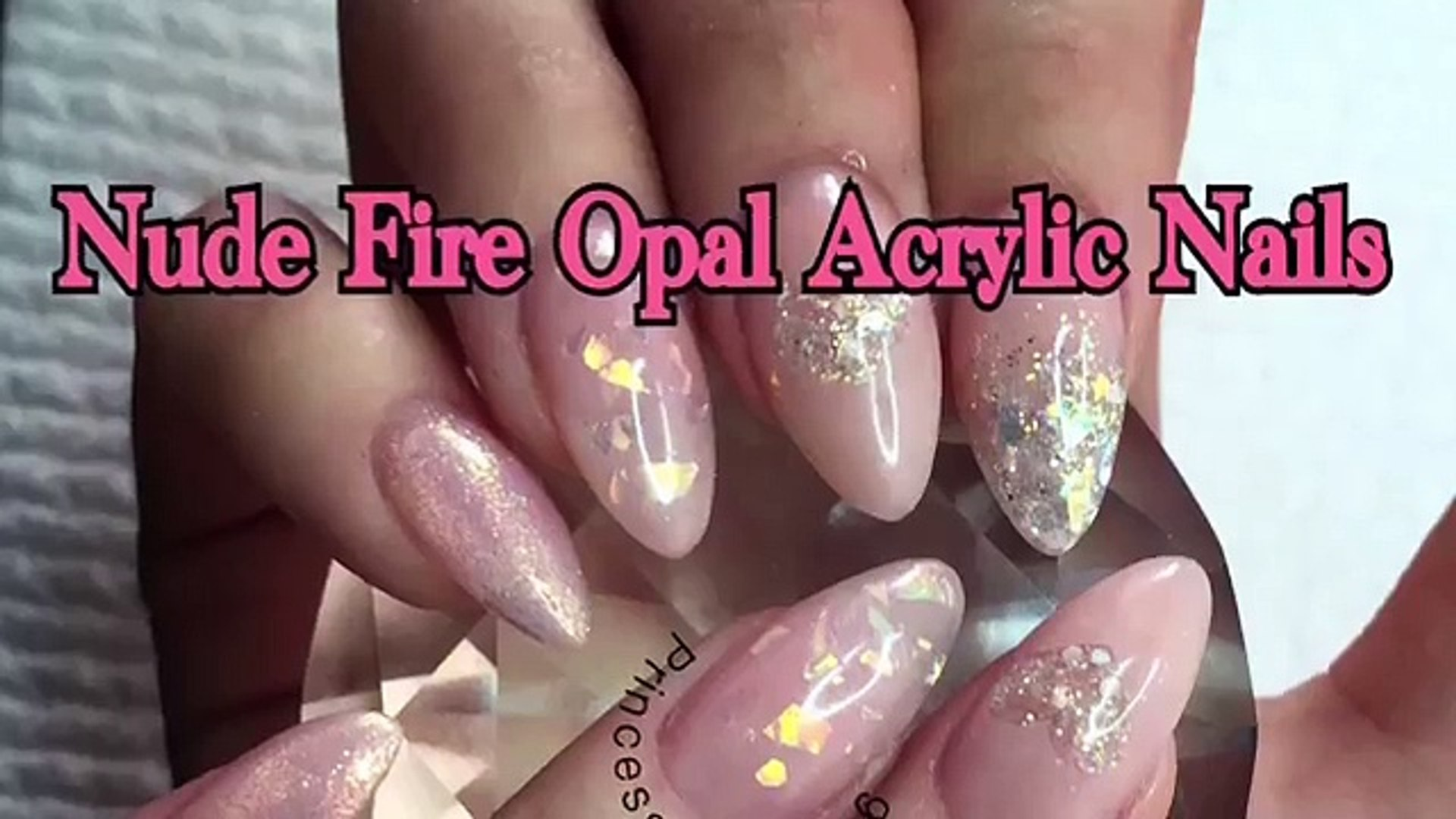Acrylic Nails ~ Nude Fire Opal