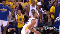 """Stephen Curry Makes 3-Pointer in James Harden's Face and Does Dance """"Shake""""  - Warriors vs Rockets - Game 3 - Western Conference Final - 2018 NBA Playoffs"""