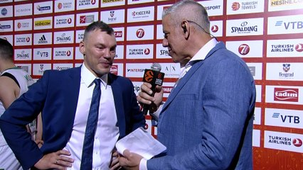 Post-game interview: Coach Jasikevicius, Zalgiris Kaunas