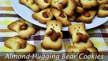 Almond-Hugging Bear Cookies - Easy Teddy Bear Biscuits Recipe