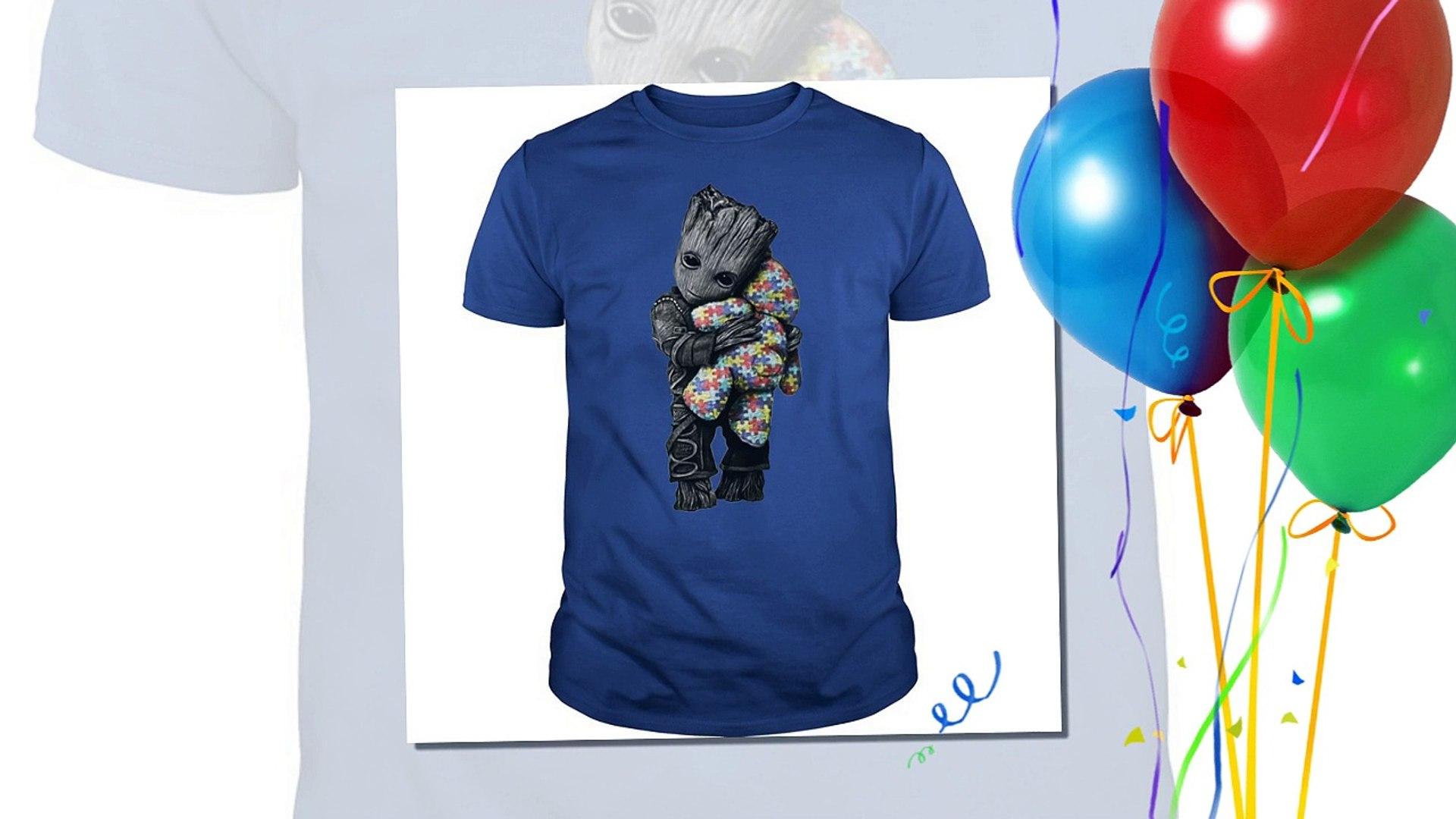Groot autism awareness hugging Teddy bear shirt, hoodie, v-neck