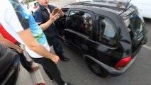 E-5 Karayolu'nda cop ve beyzbol sopalı kavga kamerada