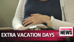 Gov't approves extra vacation days at work for couples suffering from fertility problems