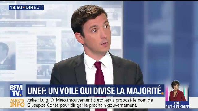 """Représentante de l'Unef voilée: """"Le plus féministe c'est de respecter son choix"""", affirme Aurélien Taché, député LAREM"""
