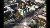 Varsovie (Pologne) : Itinéraire de visite touristique et culturelle par vue aérienne de la ville en 3D