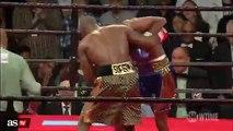 Brutal puñetazo a un arbitro en una pelea de boxeo