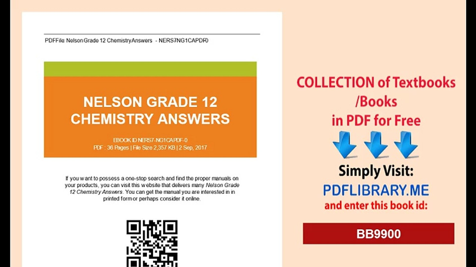 Nelson Grade 12 Chemistry Answers