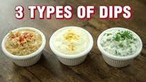 3 Types of Dips - Easy Dips Recipe for Chips - Indian Culinary League - Varun Inamdar