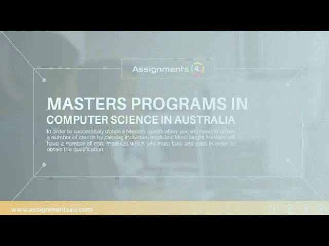 Reputed universities in Australia for Masters Programs in Computer Science
