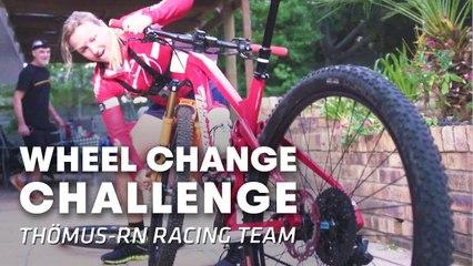 WHEEL CHANGE CHALLENGE: How fast can bikers change a wheel?