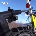 The Ktrak Snowmobile Bike Kit - Cycling On The Snow!