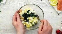Lachsröllchen mit Spinat und Feta - leicht, lecker und frisch! ZUM REZEPT