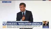 """Banlieues: """"L'expérimentation de la police de sécurité du quotidien débute"""" dans 30 quartiers, assure Emmanuel Macron"""
