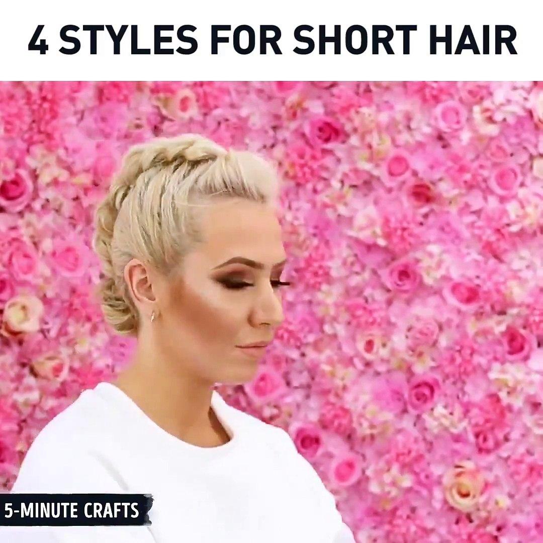 4 chic styles for short hair. ♀via Sweethearts Hair Design