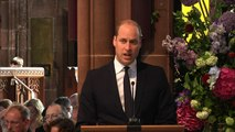 Prince William gives reading at Manchester memorial service